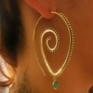 Boho Twist Drop Earrings